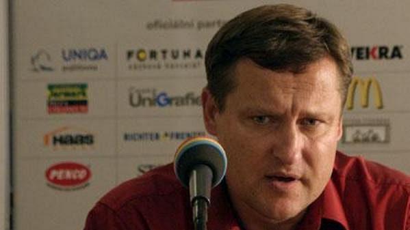 Trenér Brna Jiří Kotrba po zápase Sparta - Brno