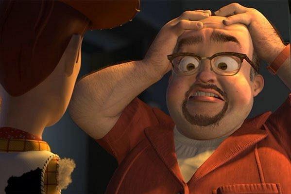 Rafa jako postavička z filmu Toy Story.