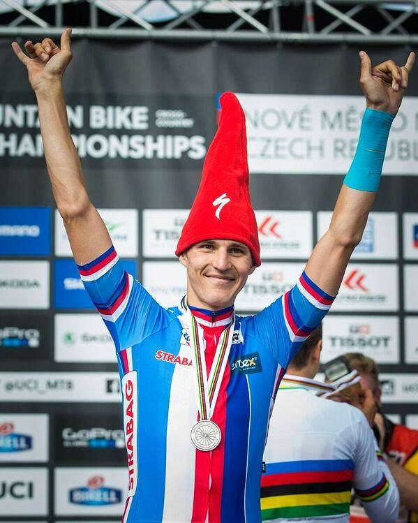 Jaroslav Kulhavý po závodě mistrovství světa 2016 v Novém Městě na Moravě.