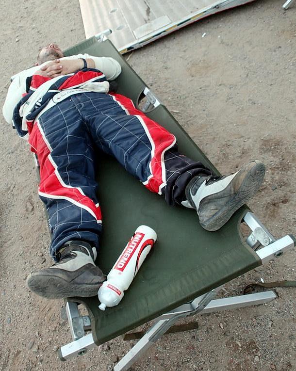 Martin Kolomý byl po čtvrté etapě Rallye Dakar na konci svých sil.