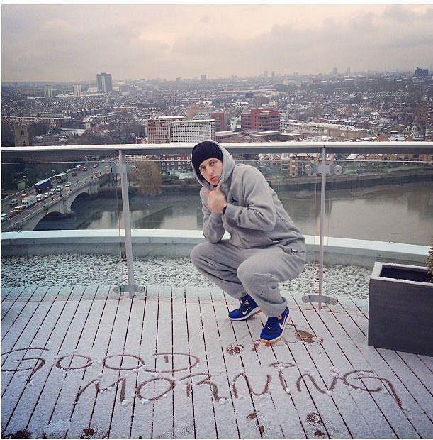 Dobré ráno ze zasněženého Londýna...
