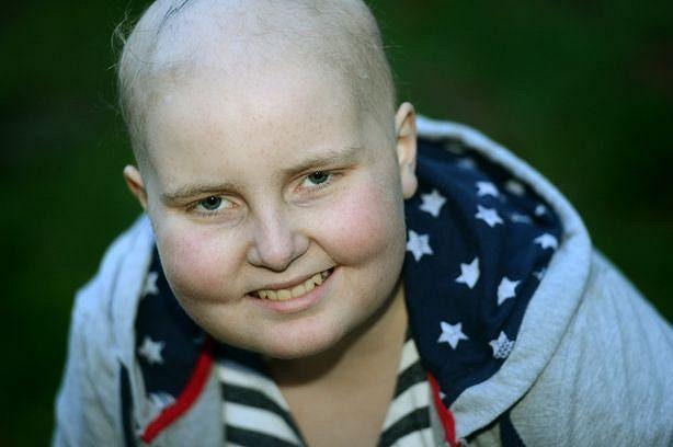 Dvanáctiletá Charlotte Jenningsová, kterou navštívily hvězdy Manchesteru United.
