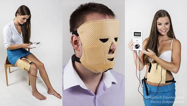 Electro Antiperspirant proti pocení hlavy, břicha a stehen.