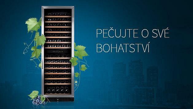 Dvouzónová vinotéka Philco pečuje o Vaše bohatství. Vytvořte si soukromý archiv až 166 lahví vína.