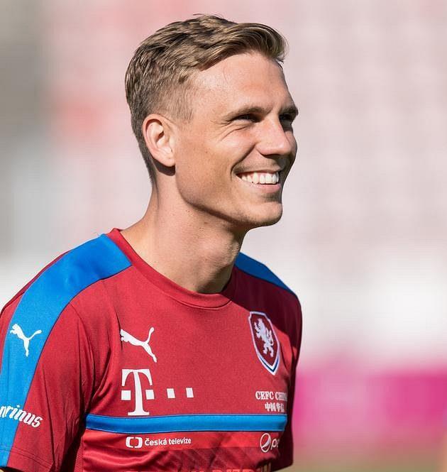 Bořek Dočkal a jeho úsměv během tréninku...