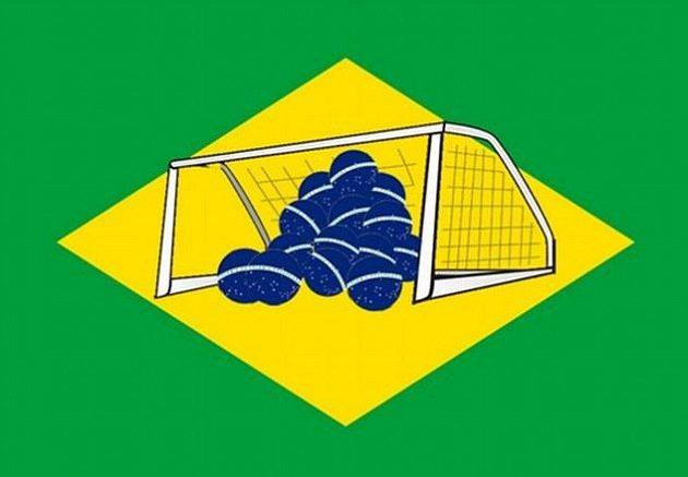 Takhle by mohla podle některých fanoušků momentálně vypadat nová brazilská vlajka.