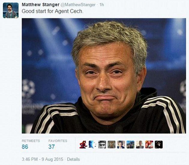 Dobrý začátek agenta Petra Čecha, mohl by si libovat José Mourinho.