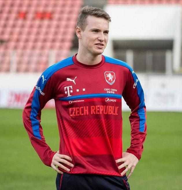 Jakub Jankto během tréninku fotbalové reprezentace.