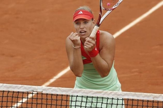 Německá tenistka Angelique Kerberová na sebe upozornila zejména vítězstvím na turnaji v Paříži.