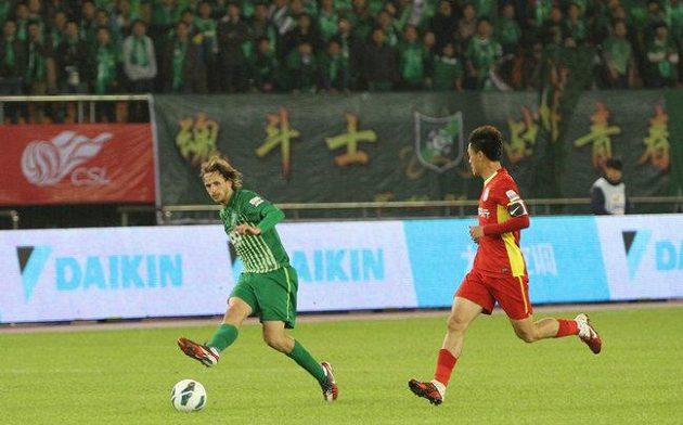 Marek Jarolím v prvním soutěžním zápase za klub Chang-čou Greentown.