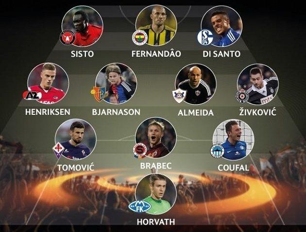 Ideální sestava druhého kola Evropské ligy podle UEFA.