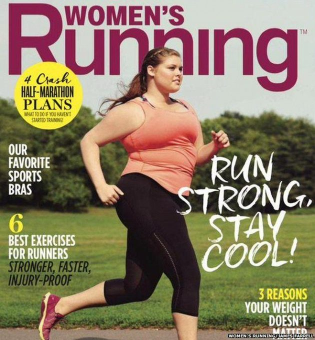 Časopis Women's Running se toho tentokrát nebál. Na obálku dal běžkyni kyprejších tvarů.