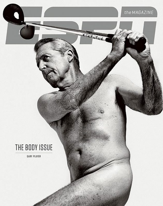 Jihoafričan Garry Player se svlékl pro The Body Issue magazínu ESPN The Magazine.
