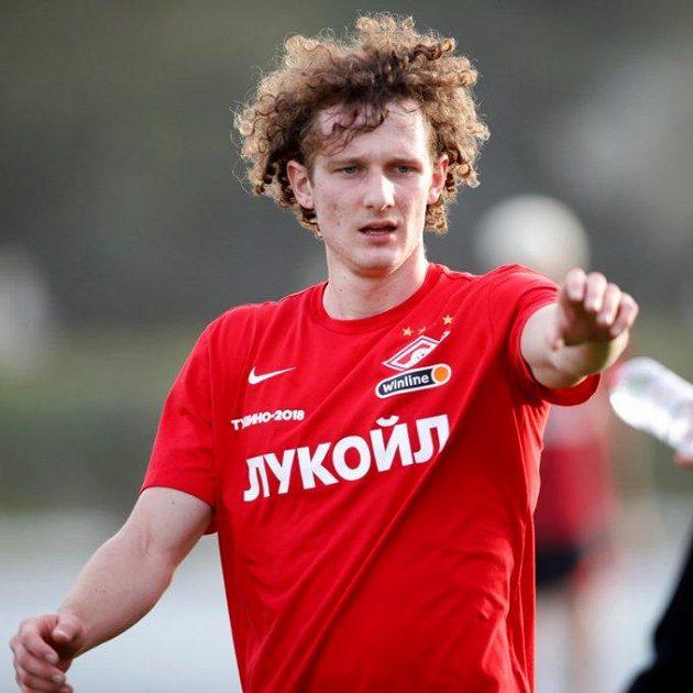 Alex Král v barvách Spartaku Moskva.