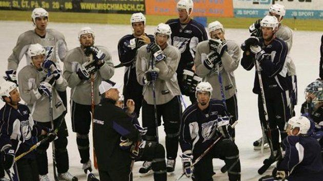 Hokejisté Tampy Bay na tréninku v Praze-Letňanech