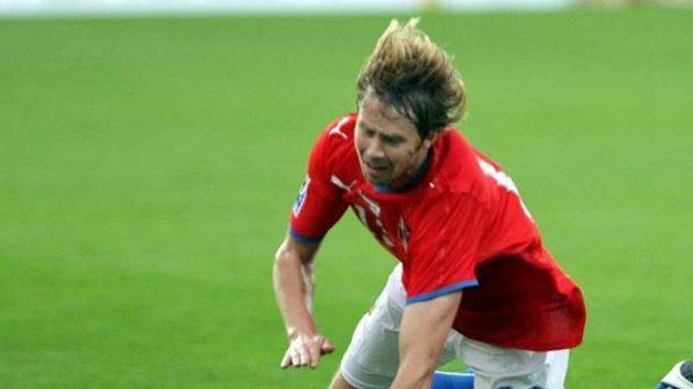 Fotbalista Jaroslav Plašil během utkání proti San Marinu