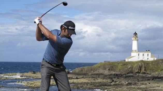 Australský golfista Matthew Goggin na deváté jamce čtvrtého kola British Open