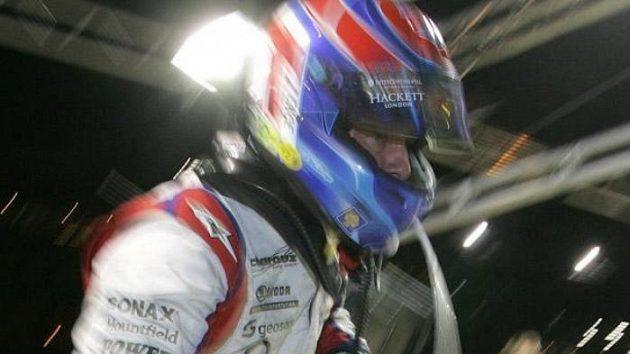 Tomáš Enge při kvalifikaci na 24 hodin Le Mans.