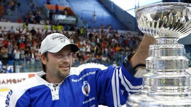 Petr Sýkora a Stanley Cup v Plzni