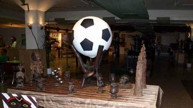 Africký pavilón ve FanCampu v Dortmundu