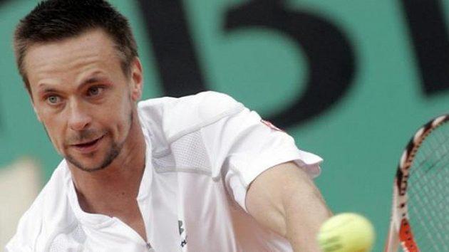 Švéd Robin Söderling při finále French Open s Rogerem Federerem.