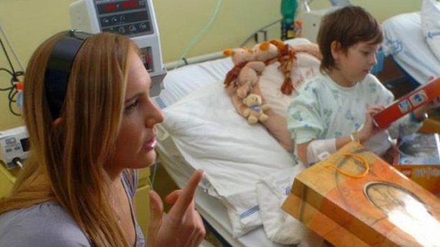 Tenistka Nicole Vaidišová v motolské nemocnici