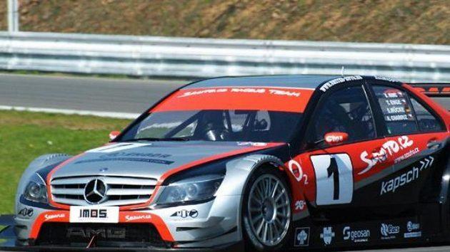 Vůz Sauto.cz Racing Teamu pilotovaný posádkou Antonín Charouz, Tomáš Enge, Stefan Mücke a Václav Nimč při kvalifikaci na Jarní cenu Brna.