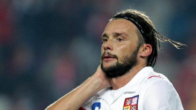 Marek Jankulovski během utkání proti Polsku