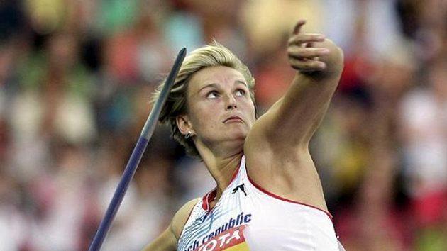 Oštěpařka Barbora Špotáková během finále mistrovství světa v Berlíně