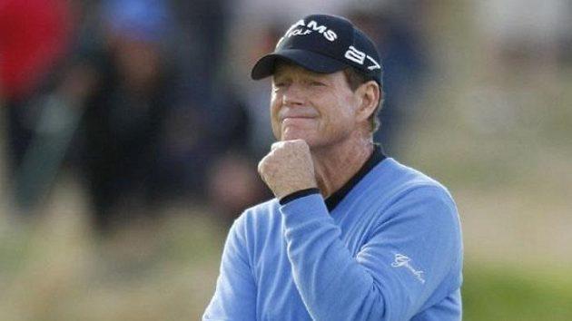 Zamyšlený americký golfista Tom Watson