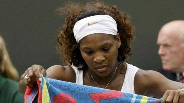 Serena Williamsová během přestávky svého zápasu
