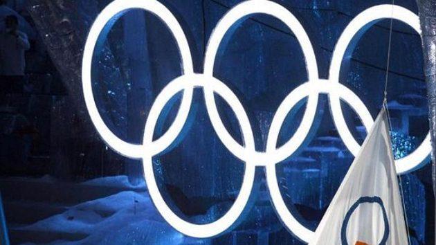 Vztyčení olympijské vlajky