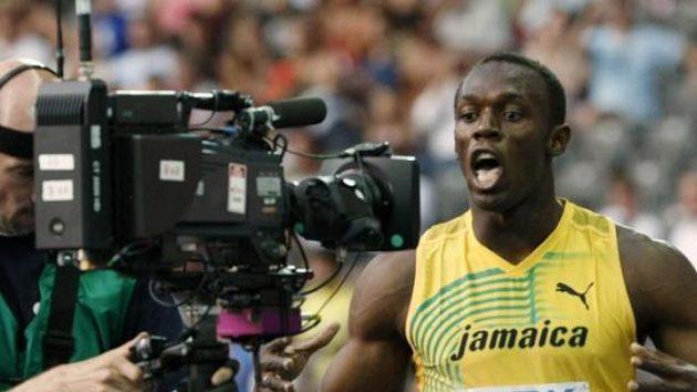 Usain Bolt ve svém živlu - před kamerou