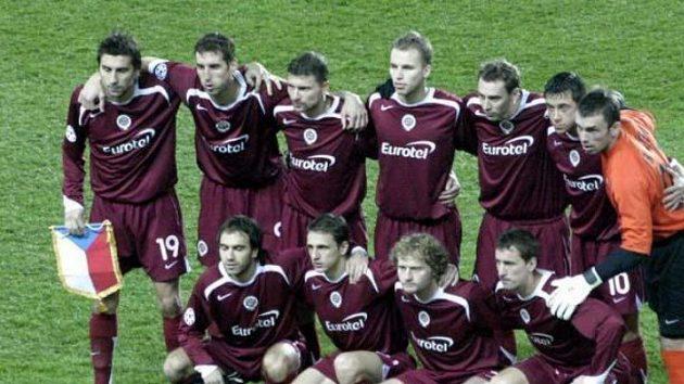 Fotbalisté Sparty před utkáním s Thunem