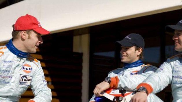 Německo-česká posádka týmu Aston Martin (zleva) Stefan Mücke, Jan Charouz a Tomáš Enge.