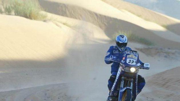Ivo Kaštan na trati Rallye Dakar.