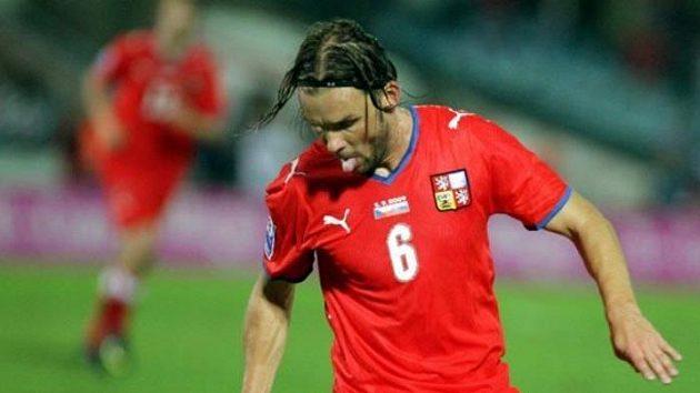 Marek Jankulovski během zápasu na Slovensku