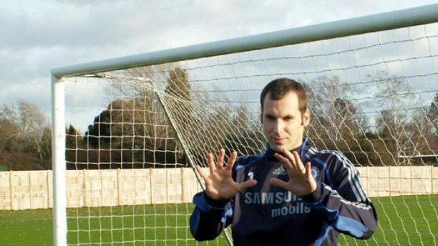 Petr Čech v tréninkovém centru Chelsea