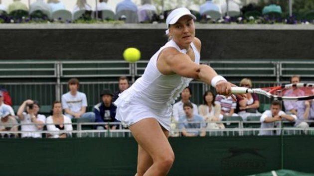 Ruská tenistka Nadia Petrová během prvního kola ve Wimbledonu