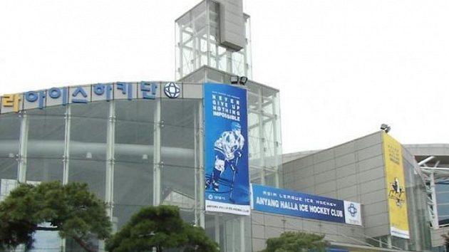 Zimní stadion korejského týmu Anyang Halla.