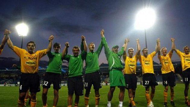 Fotbalisté Bohemians 1905 slaví vítězství