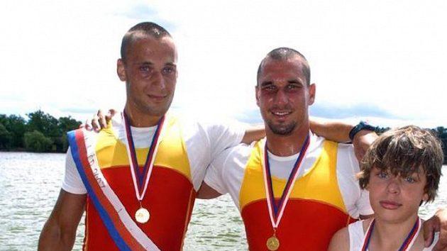 Dvojka s korm. Jakub Friedberge, Tomáš Patera, Radek Telensk.