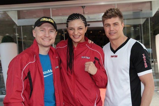 Lukáš Konečný, Christina Hammerová a trenér Dirk Dzemski v Brně.