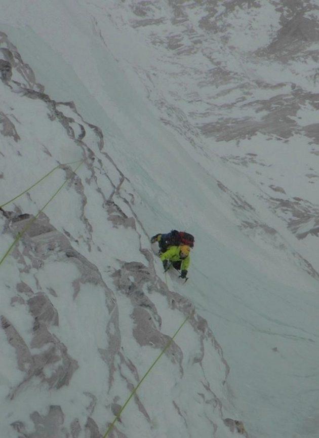 Ledovými plotnami k vrcholu Talungu.