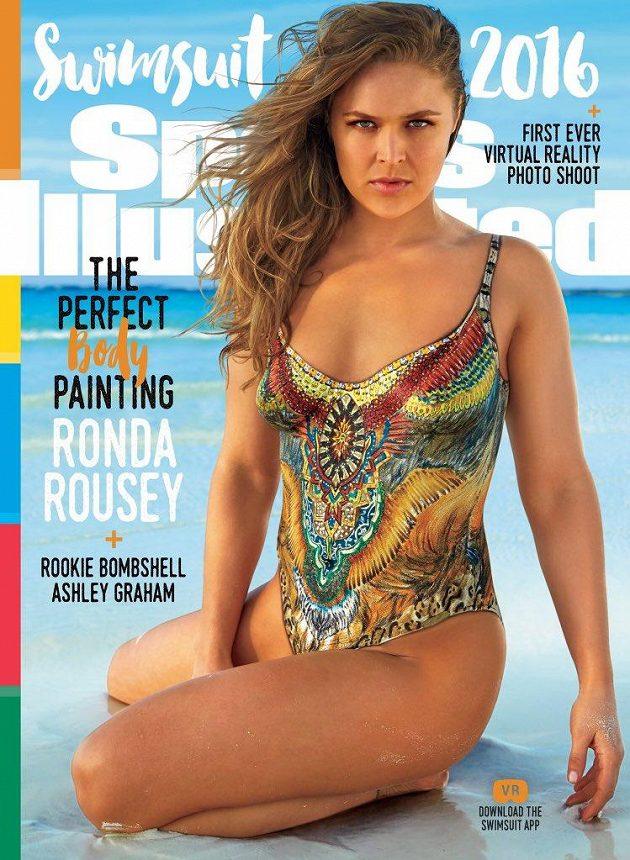 Profesionální bojovnice MMA Ronda Rouseyová na titulce Sports Illustrated.