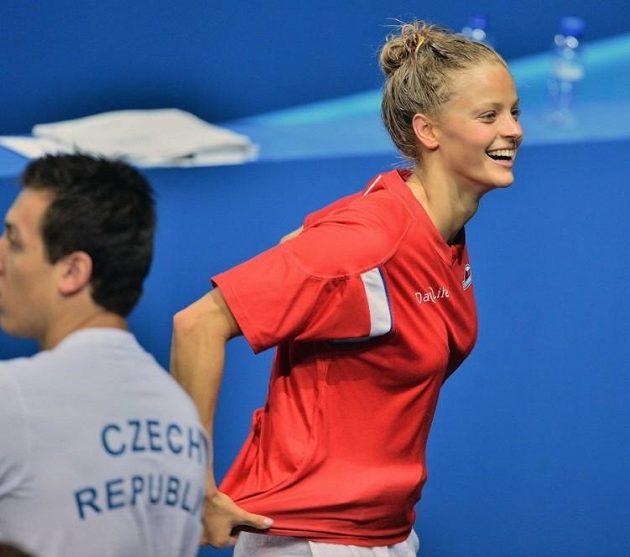 Česká kráska Simona Baumrtová na plaveckém MS v Barceloně.