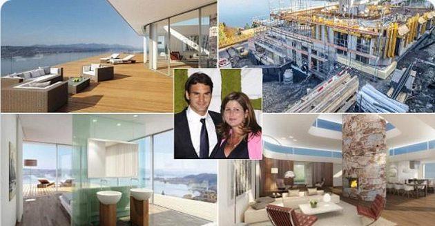 Roger Federer žije se svou rodinou v luxusním sídle na břehu Ženevského jezera