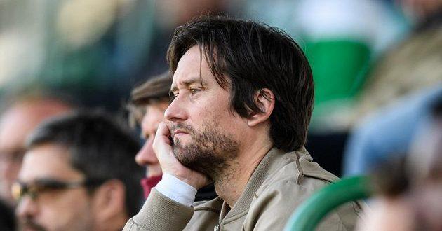 Sportovní ředitel Sparty Praha Tomáš Rosický během utkání 28. kola s Bohemians.