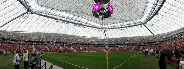 Stadión ve Varšavě, dějiště zápasu Česko - Portugalsko