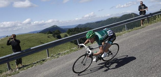 Francouzský cyklista Thomas Voeckler v 10. etapě Tour de France